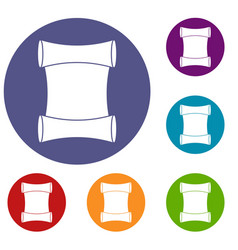 scroll icons set vector image vector image