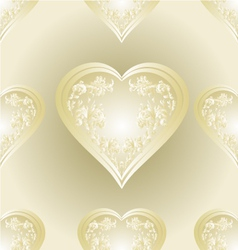 Seamless texture heart of ornaments vector image vector image
