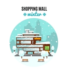Shopping mall colorful concept vector