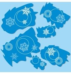 Snowflake ragged rectangle design 004 vector