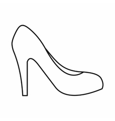 Women shoe with heels icon outline style vector image vector image