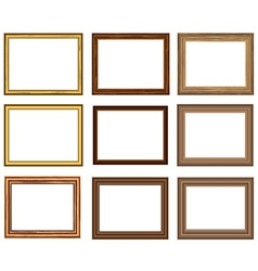 Wood frame set vector