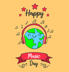World music day colorful style vector