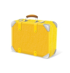 yellow trawel suitcase vector image