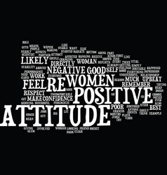 Your attitude counts text background word cloud vector