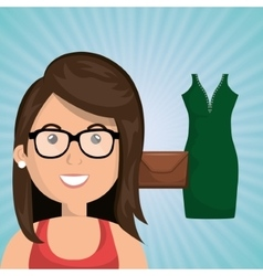 Woman clothes closet vector