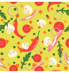 Seamless pattern with food slices design elements vector