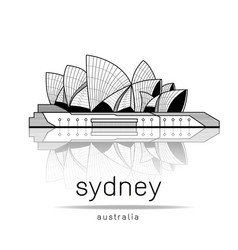 sydney opera house design vector image