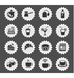 cafe icon set vector image