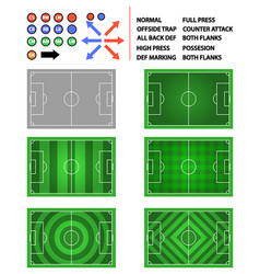 Soccer field strategy plan element graphic vector