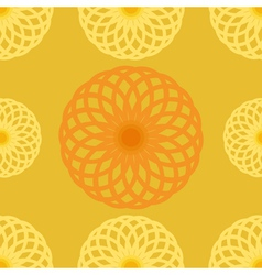 Seamless pattern orange juice background round vector