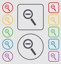 Magnifier glass zoom tool icon sign symbol on the vector