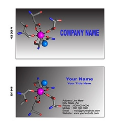 Biotech business card vector