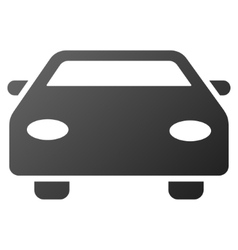 Car gradient icon vector