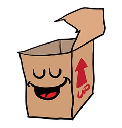 Happy freehand drawn cartoon empty box vector
