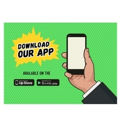 Download page of the mobile messaging app vector image