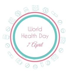 World health day hand drawn medical vector