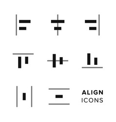 align icons collection set of simple editing and vector image vector image