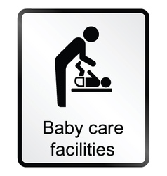 Baby care facilities information sign vector