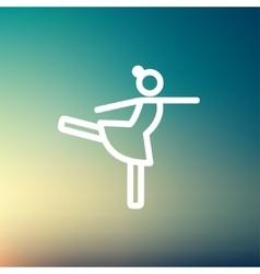Ballet dancing thin line icon vector image vector image
