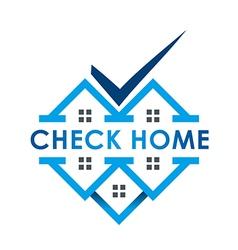 blue house checks twins vector image