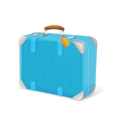 blue trawel suitcase vector image