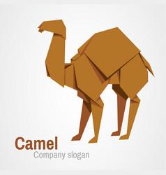 Camel logo origami vector