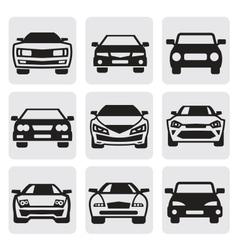 car symbols set vector image