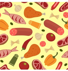 Colorful food background vector image vector image