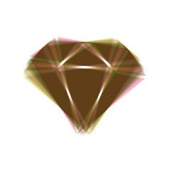 Diamond sign colorful icon vector