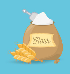 Flour ingiente product pastry bake vector