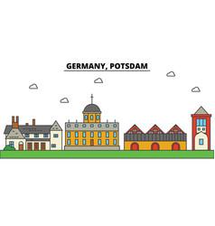 germany potsdam city skyline architecture vector image vector image