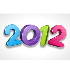 Happy new year 2012 3d message sign vector