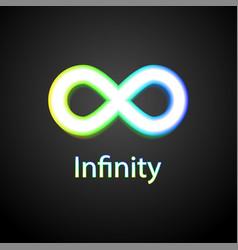 infinity rainbow symbol logo vector image vector image