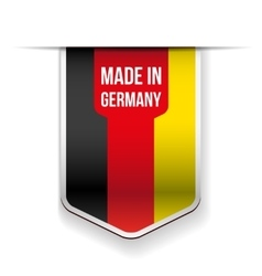 Made in germany flag ribbon vector