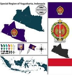 Map of yogyakarta vector