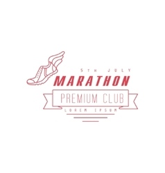 Marathon premium club red label design vector