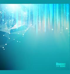 Mesh blue lights background vector