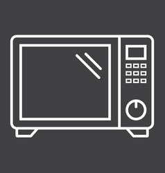 Microwave oven line icon household and appliance vector