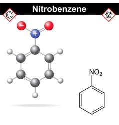 Nitrobenzene structure vector