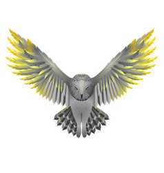 owl with golden wings vector image vector image