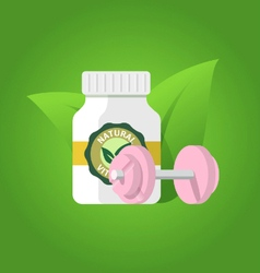 Pharmacology and fitness vector image