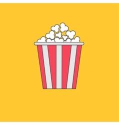 Popcorn box cinema movie line icon in flat design vector