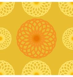 Seamless pattern Orange juice background Round vector image