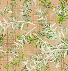 seamless texture of rosemary vector image vector image