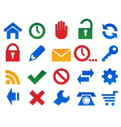 set icons for web site vector image vector image