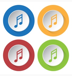 Set of four icons - musical note vector
