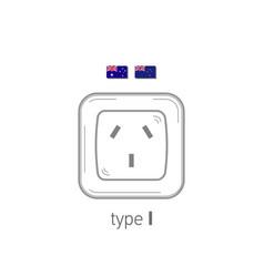 Sockets icon type i ac power sockets realistic vector