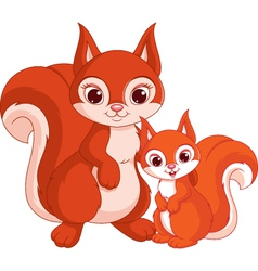 Squirrel and baby vector