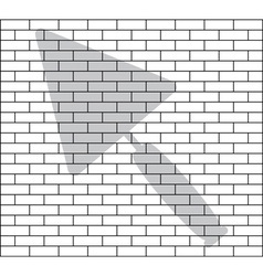Stencil of brick wall vector